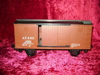 EZTEC SANTA FE BOX CAR Scientific Toys Train G Scale bcg