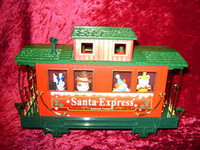 EZTEC CABOOSE CAR SANTA EXPRESS Christmas Train G New z
