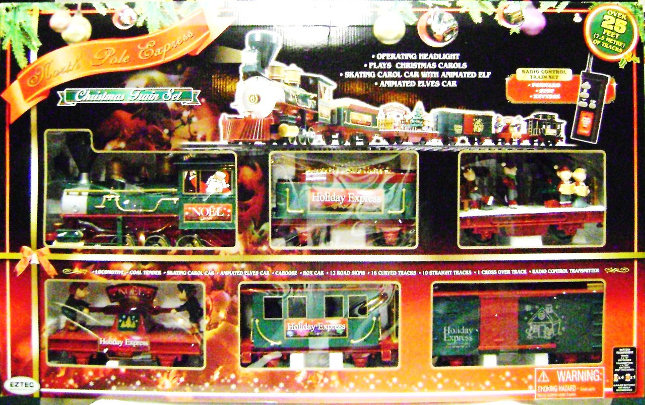 Christmas Train Set.Eztec 37260 North Pole Express Christmas Train Set Rc G Scale New Bcg