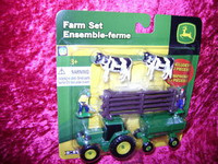 Ertl FARM SET 10 Pc WOOD FENCE COWS MEN S Scale 1:64 z