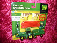 Ertl 35939 FARM SET 10 Pc RED FENCE COWS MEN S Scale 1:64 z