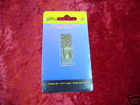 "DRILL BITS 10 SMALL 1/16"" Titanium Hobby Tools Crafts New z"