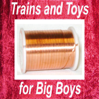COPPER WIRE 24 GAUGE 24 Yd Make Cable Spools S O Scale Train z