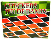 CHECKERS Game Set for Kids Travel Inexpensive New i