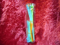 "CABLE TIES FLOURESCENT 100 Assorted Colors 4""  8"" Colored Plastic z"
