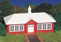 Bachmann 45133 HO PLASTICVILLE SCHOOL HOUSE Building Scenery Kit z