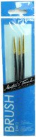 ARTISTS BRUSH SET 3 Pc 3/0 00 0 DETAIL GOLD NYLON Brushes Hobby Crafts 2/0 bcg i