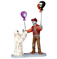 Lemax 02800 BOOLLOON SELLER Spooky Town Figurine Halloween Decor Carnival bcg