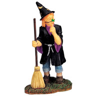 Lemax 02381 CUTEST WITCH Spooky Town Figure Halloween Decor Figurine Retired bcg