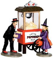 Lemax 32112 POPCORN TREATS Spooky Town Figure Set of 3 Halloween Decor Figures bcg