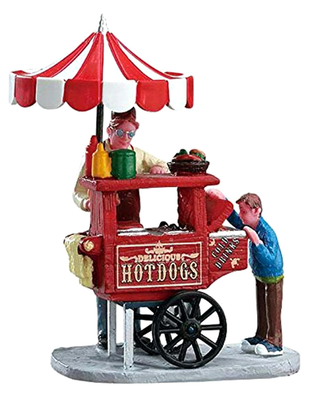Christmas Village Accessories.Lemax 12932 Hot Dog Cart Figurine Christmas Village Figures Accessories Bcg