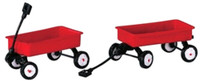 Lemax 44175 RED WAGONS Set of 2 Christmas Village Accessories O G Scale bcg
