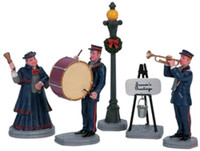 Lemax 62323 CHRISTMAS BAND Figurine Set of 5 Christmas Village Figures O G bcg