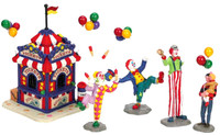 Lemax 63563 CARNIVAL TICKET BOOTH & FIGURINES Christmas Village Table Accent bcg