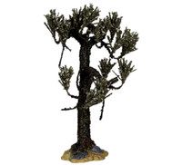 "Lemax 04189 WITHERED CYPRESS TREE LARGE 9"" Spooky Town Retired Halloween Decor bcg"