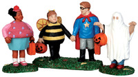 Lemax 52304 NEW TRICK OR TREATERS Spooky Town Figurine Set Halloween Decor bcg