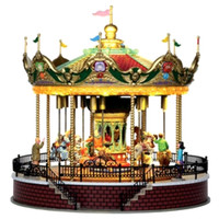 Lemax 14325 SUNSHINE CAROUSEL Carnival Ride Amusement Park Christmas Village G Scale bcg
