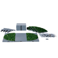 Lemax 64108 PLAZA SYSTEM (GREY, ROUND GRASS) 24 Pcs Christmas Village S O Scale bcg