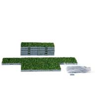 Lemax 64107 PLAZA SYSTEM (GRASS, SQUARE) 16 Pcs Christmas Village Landscape O Scale bcg