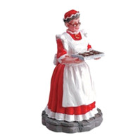 Lemax 52012 MRS. CLAUS Christmas Village Figurine G Scale Figure Decor bcg