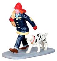 Lemax 42262 SAVING THE DAY Christmas Village Figurine G Scale Figure Decor bcg