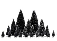 Lemax 34968 PINE TREE SET 21 ASSORTED Christmas Village Snowy Trees Decor O S HO Scale bcg
