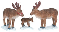 Lemax 62242 REINDEER Christmas Village Figurines Set of 3 Figures Decor G Scale bcg