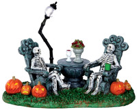 Lemax 33014 MAUSOLEUM VACANCY Spooky Town Table Accent Halloween Decor O G Scale bcg