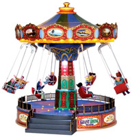 Lemax 44765 THE GIANT SWING RIDE Carnival Amusement Park Christmas Village O G Scale bcg