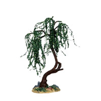 """Lemax 14373 GREEN WILLOW MEDIUM 6"""" Christmas Village Landscape Accessory S O Scale bcg"""