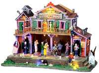 Lemax 05011 HALLOWEEN JAMBOREE Spooky Town Lighted Building Retired Animated S O Scale bcg