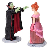 Lemax 82470 UNDER HIS SPELL Spooky Town Figurine Set of 2 Retired Halloween O G Scale bcg