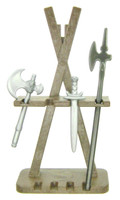 Playmobil 3666 CASTLE Parts WEAPON STAND 3 WEAPONS Toys Kings Medieval Knights bcg