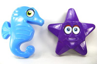 SEAHORSE & STARFISH SAND MOLD Set of 2 Beach Toys Sandbox Summer Fun Outdoor bcg