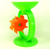 SAND SPINNER BEACH TOY GREEN Timer Paddle Wheels Turn Sandbox Summer Fun Outdoors bcg