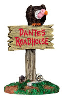 Lemax 44735 ROADHOUSE SIGN Spooky Town Accessories Retired Halloween Decor bcg