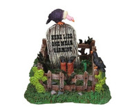 Lemax 83671 COWBOY GRAVESITE Spooky Town Table Accent Retired Halloween Decor bcg