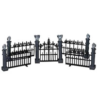Lemax 44139 GARGOYLE FENCE Set of 5 Spooky Town Accessories Halloween Decor bcg