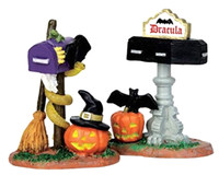 Lemax 44740 MONSTER MAILBOXES Set of 2 Spooky Town Accessories Halloween Decor bcg