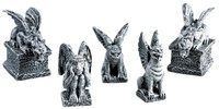 Lemax 52124 GARGOYLES Spooky Town Figurine Set of 5 Halloween Decor Accessory bcg