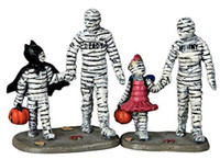 Lemax 62423 TRICK OR TREATING WITH MUMMY AND DEADY Set Spooky Town Figurine bcg