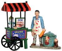 Lemax 52311 ZOMBIE BRAINS FOODCART Spooky Town Figurine Set Halloween Decor bcg
