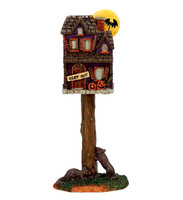 Lemax 74216 FULL MOON BIRDHOUSE Spooky Town Accessories Halloween Decor bcg
