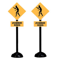 Lemax 74218 ZOMBIE CROSSING Set of 2 Spooky Town Accessories Halloween Decor bcg