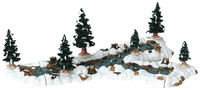 Lemax 13367 MILL STREAM FORK Set of 10 Christmas Village Landscape Accessories Table Accent bcg
