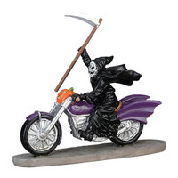 Lemax 73297 GRIM RIDER Spooky Town Table Accent Halloween Decor Piece Biker bcg