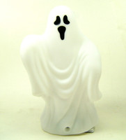 LIGHT-UP GHOST WITH EERIE SOUND EFFECT Plastic Halloween Decor bcg
