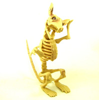 RAT SKELETON Bones Halloween Decor Creepy Party Decoration Eerie Accessories bcg