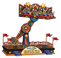 Lemax 54918 THE SHOOTING STAR Carnival Ride Amusement Park Christmas Village