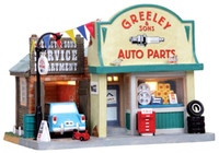 Lemax 05028 GREELEY & SONS AUTO PARTS Building Christmas Village Decor S Scale bcg